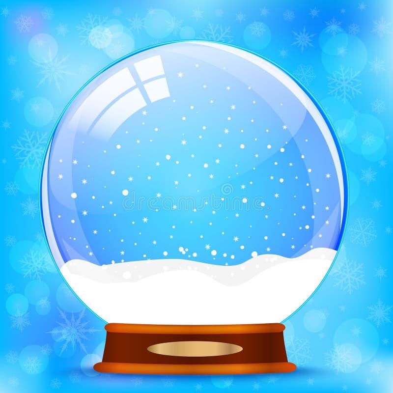 kuli ziemskiej ilustracja odizolowywał wektorowego śniegu biel royalty ilustracja
