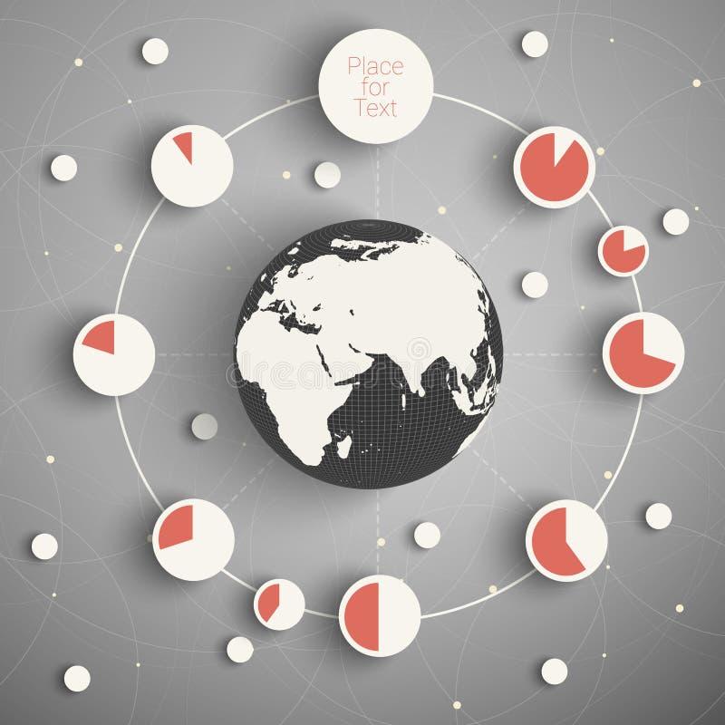 Kuli ziemskiej informacja ilustracja wektor