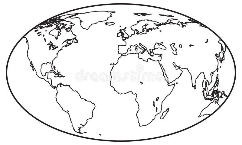 Kuli ziemskiej konturowa ikona ilustracji