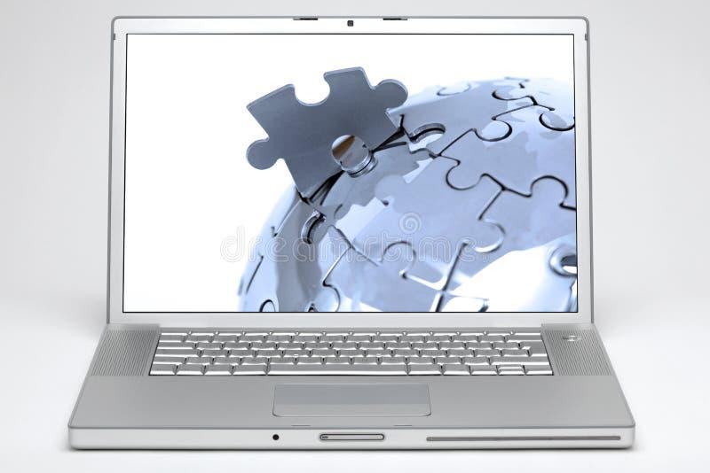 kuli ziemskiej laptopu ekran obrazy stock