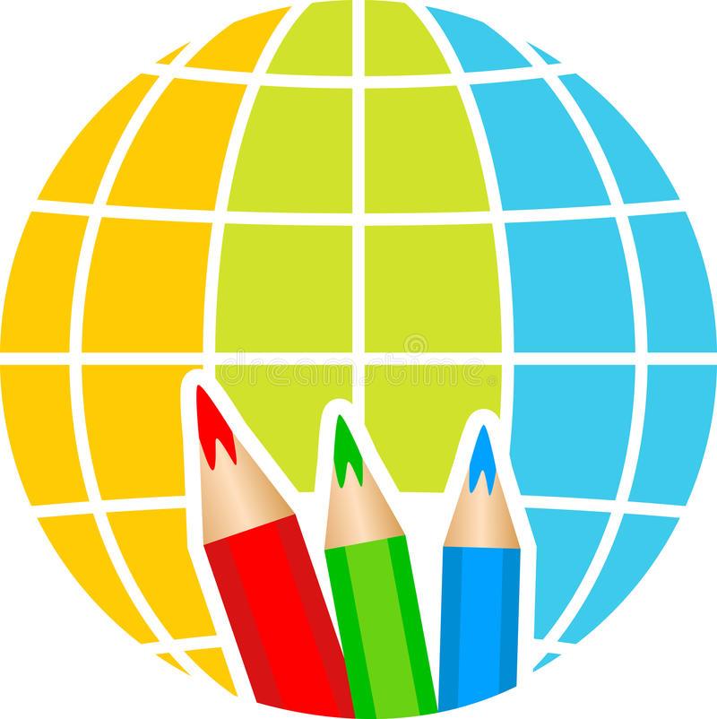 kuli ziemskiej loga ołówek ilustracji