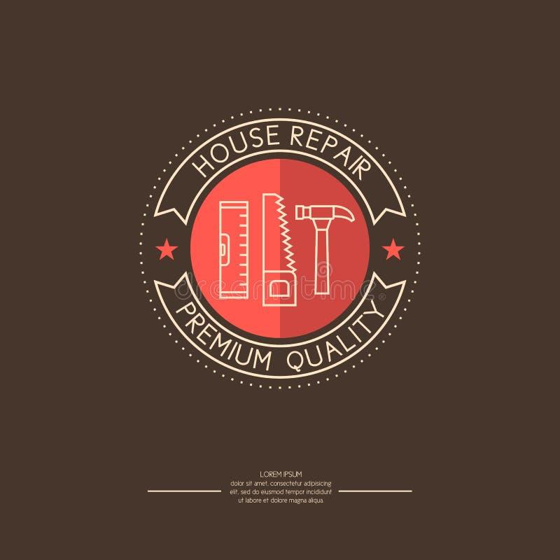 kuli ziemskiej loga wektoru sieć Domowa naprawa ilustracja wektor