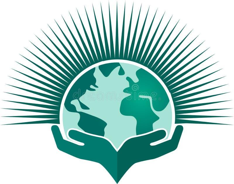 kuli ziemskiej ręka royalty ilustracja