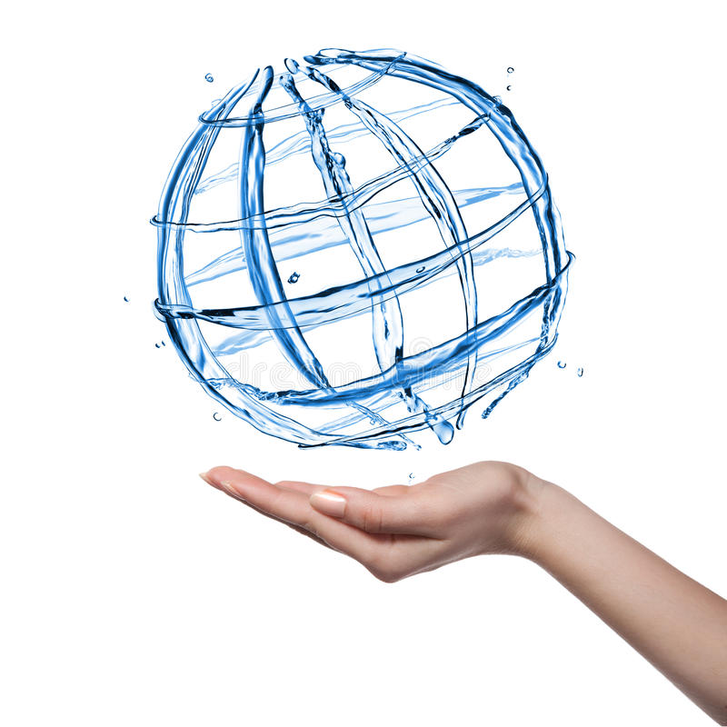 kuli ziemskiej ręki istota ludzka odizolowywająca woda obrazy royalty free