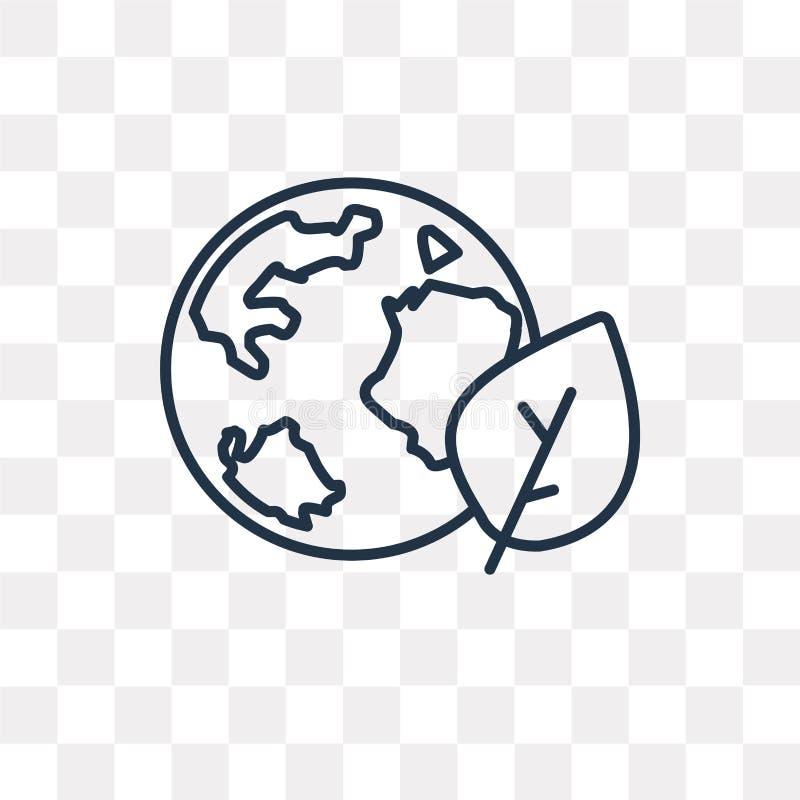 Kuli ziemskiej wektorowa ikona odizolowywająca na przejrzystym tle, liniowy Glo royalty ilustracja