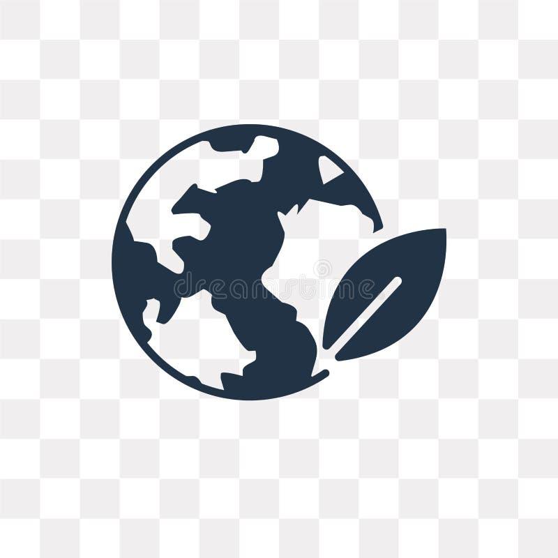 Kuli ziemskiej wektorowa ikona odizolowywająca na przejrzystym tle, kuli ziemskiej tra ilustracji