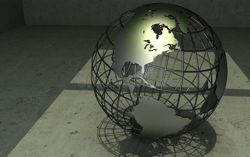 kuli ziemskiej wireframe ilustracji