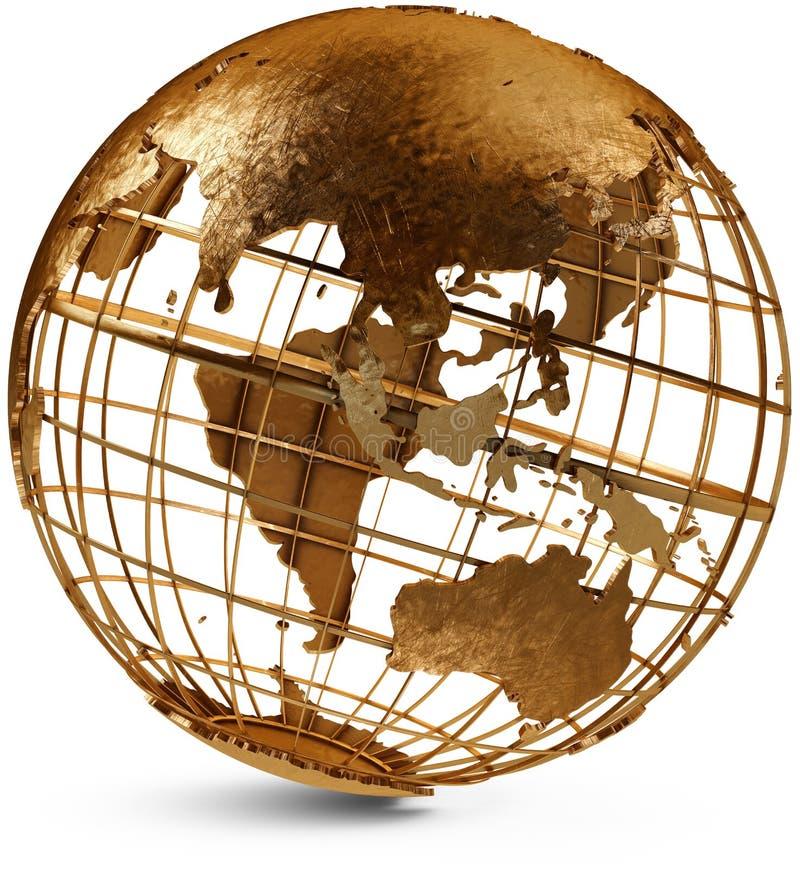 kuli ziemskiej wschodnia hemisfera royalty ilustracja