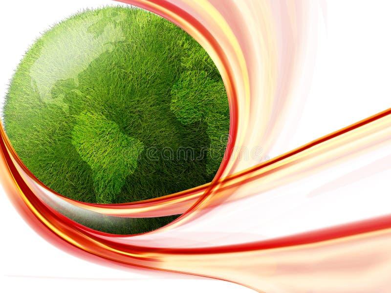 kuli ziemskiej zieleń royalty ilustracja