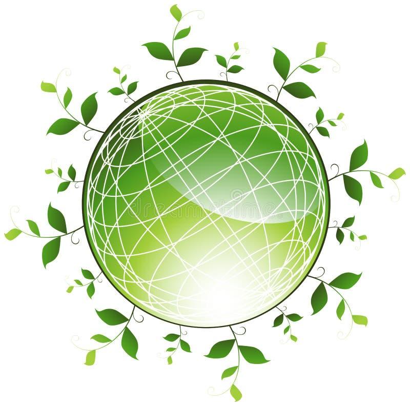 kuli ziemskiej zielony rośliien target1666_1_ royalty ilustracja