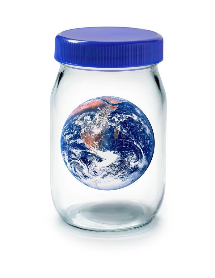 kuli ziemskiej ziemska benzynowa szklarnia ilustracja wektor