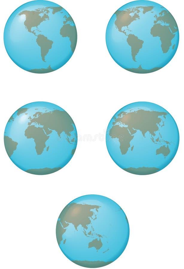 kuli ziemskiej ziemska mapa ilustracja wektor