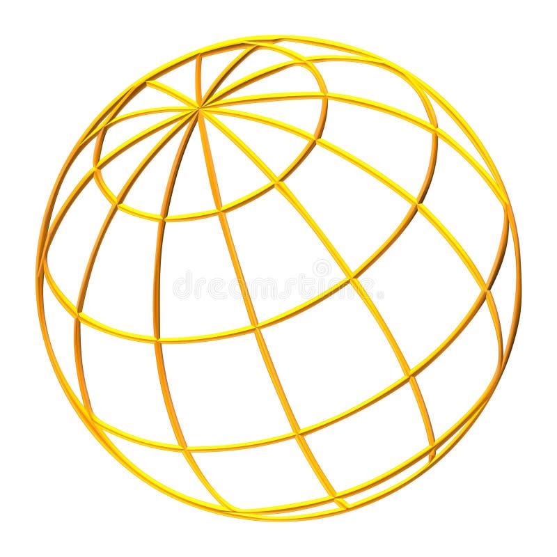 kuli ziemskiej ziemska planeta royalty ilustracja