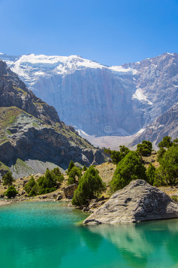 Kulikalon Seen, Fann-Berge, Tourismus, Tadschikistan lizenzfreie stockfotos