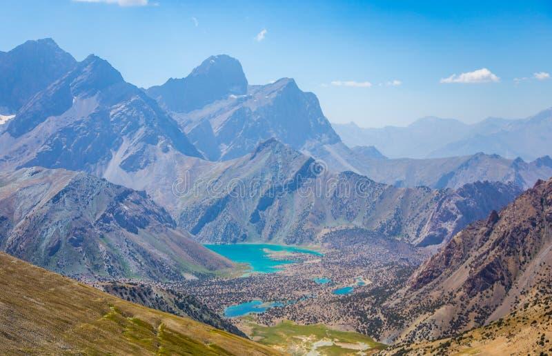 Kulikalonmeren, Fann-bergen, toerisme, Tadzjikistan stock afbeelding