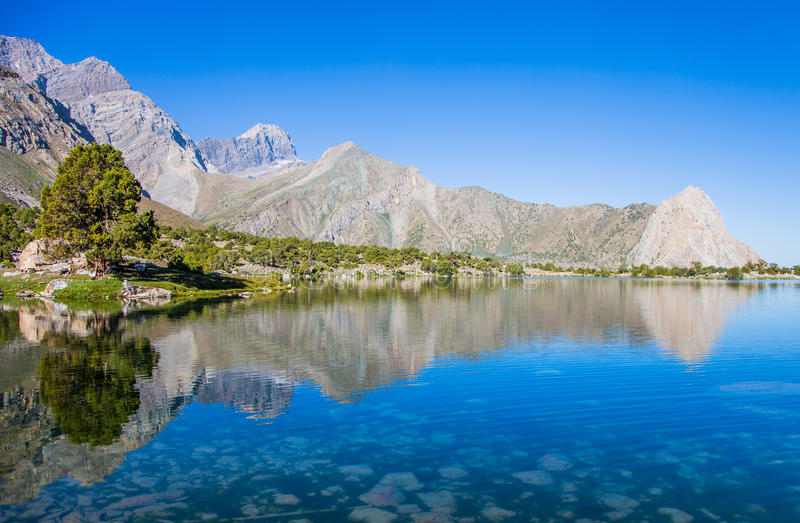 Kulikalonmeren, Fann-bergen, toerisme, Tadzjikistan royalty-vrije stock foto