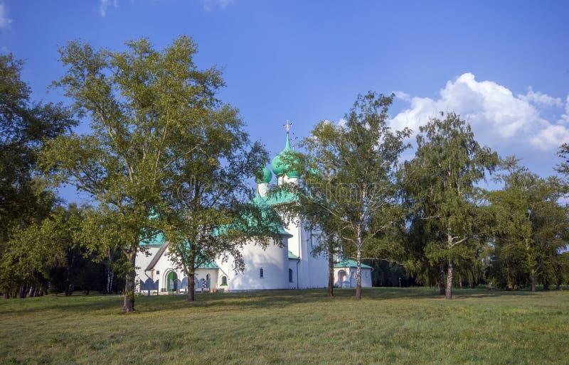 Kulikovo领域,圣Radonezh Sergius纪念教会  免版税库存照片