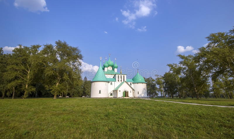 Kulikovo领域,圣Radonezh Sergius纪念教会  库存照片