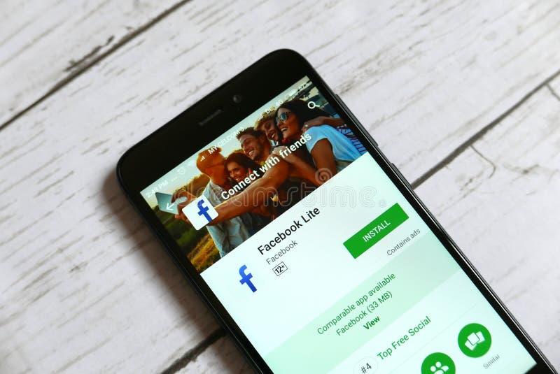 KULIM, MALÁSIA - 11 DE ABRIL DE 2018: Aplicação mestra da segurança em uma loja do jogo de Google do androide imagens de stock royalty free