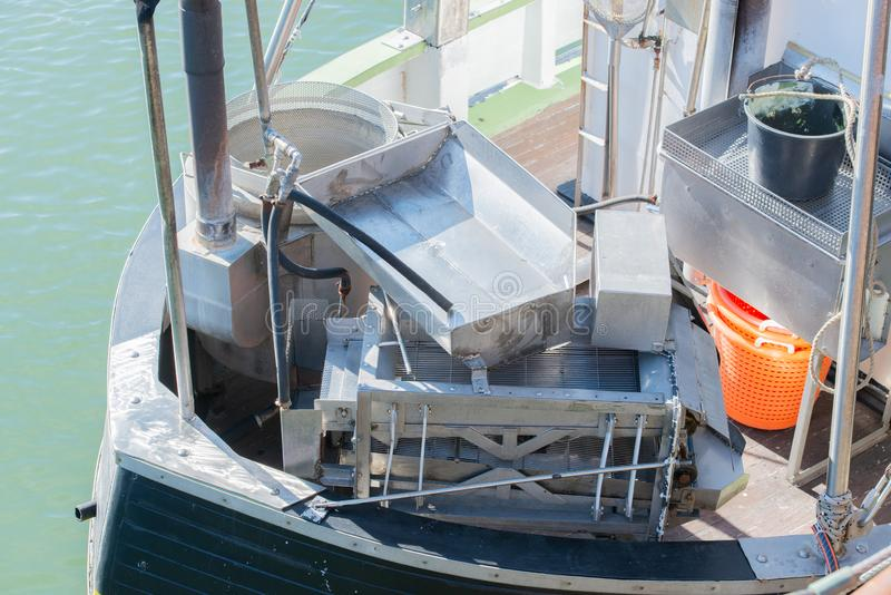 Kulinarna czajnik roślina dla kraba kucharstwa na łodzi rybackiej zdjęcie royalty free