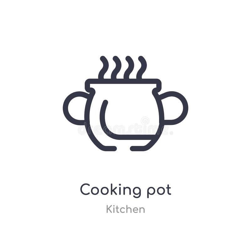 Kulinarna garnka konturu ikona odosobniona kreskowa wektorowa ilustracja od kuchennej kolekcji editable cienka uderzenia kucharst ilustracji