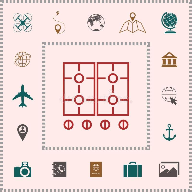 Kulinarna nawierzchniowa ikona ilustracja wektor