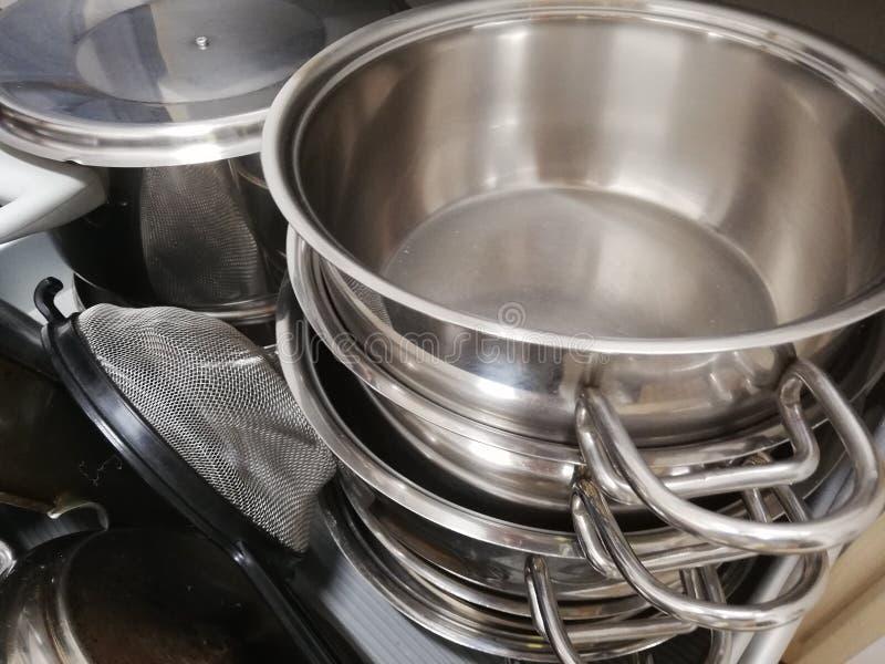 Kulinarna niecka brogująca w kuchennym kreślarzie zdjęcie stock
