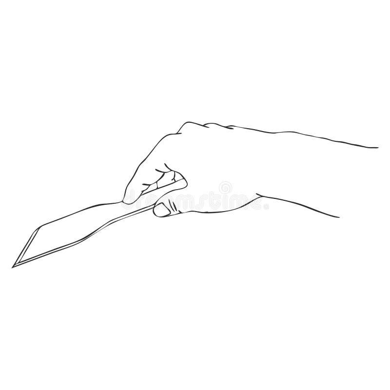 Kulinarna ręka z zataczarzem ilustracja wektor