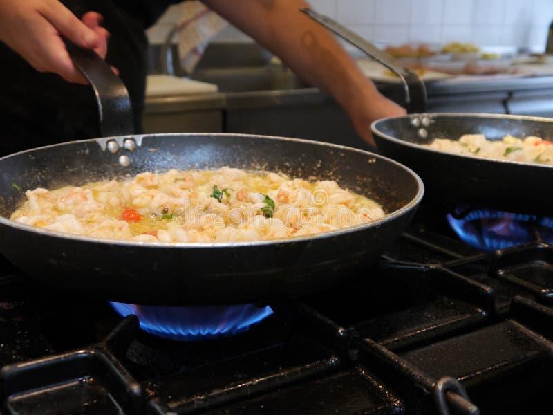Kulinarne garnele obraz royalty free