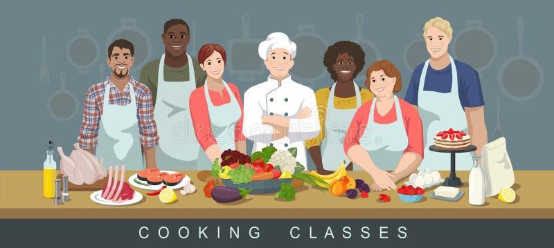 Kulinarne klasy 3 royalty ilustracja
