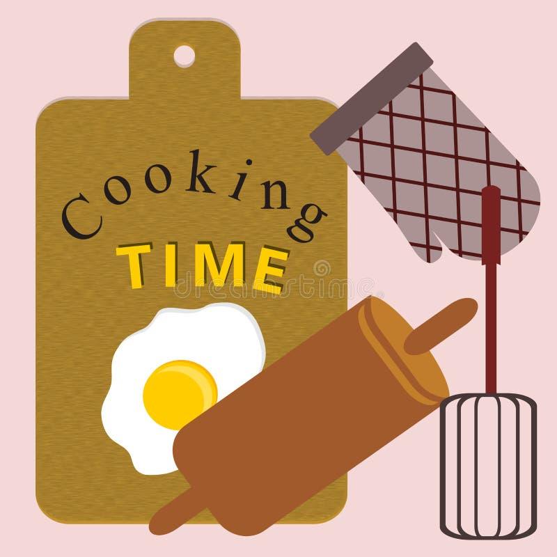 Kulinarnego czasu ilustracje ilustracja wektor