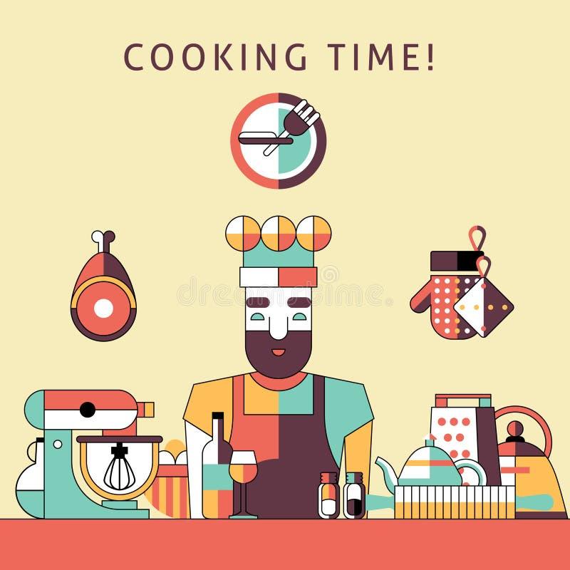 Kulinarnego czasu plakat ilustracji