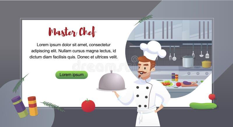 Kulinarnego pojęcia Ilustracyjny Restauracyjny biznes ilustracji