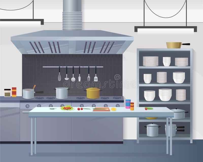 Kulinarnego pojęcia Ilustracyjny Restauracyjny biznes ilustracja wektor