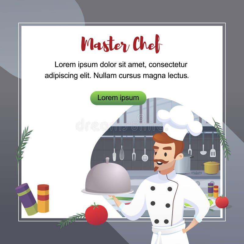 Kulinarnego pojęcia Ilustracyjny Restauracyjny biznes royalty ilustracja