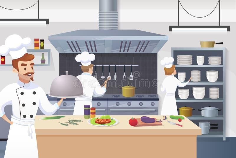 Kulinarnego pojęcia Restauracyjnego biznesu Ilustracyjny wektor ilustracji