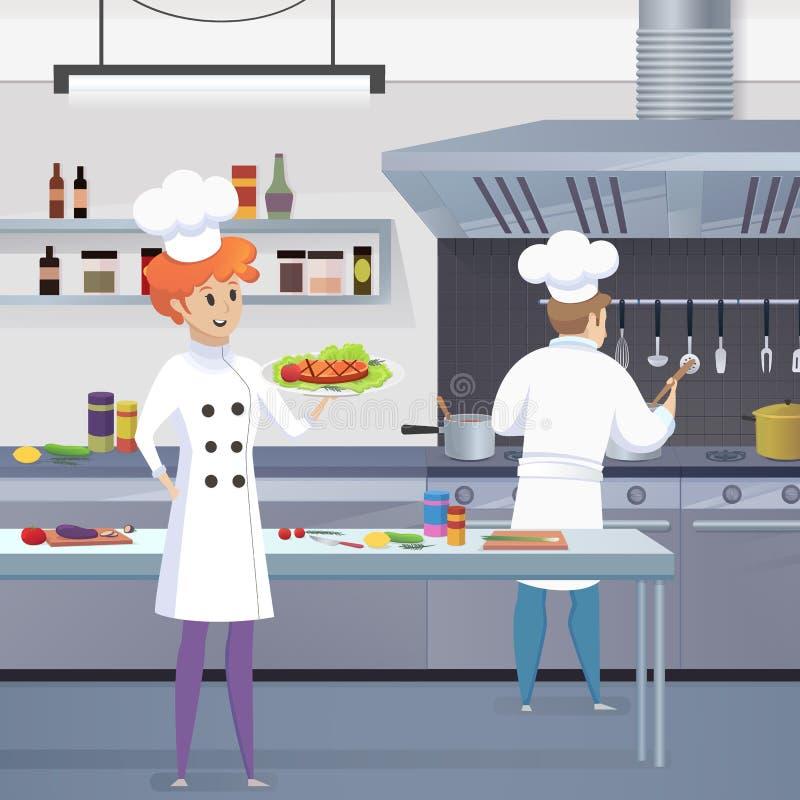 Kulinarnego pojęcia Restauracyjnego biznesu Ilustracyjny wektor royalty ilustracja