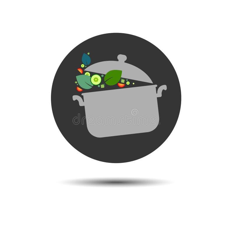 Kulinarnego rondla przedmiota kuchenny karmowy ilustracyjny wektor ilustracji