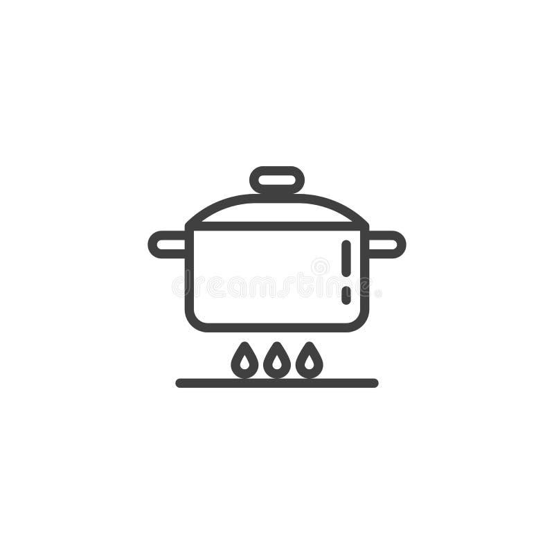 Kulinarnej instrukcji linii ikona ilustracja wektor