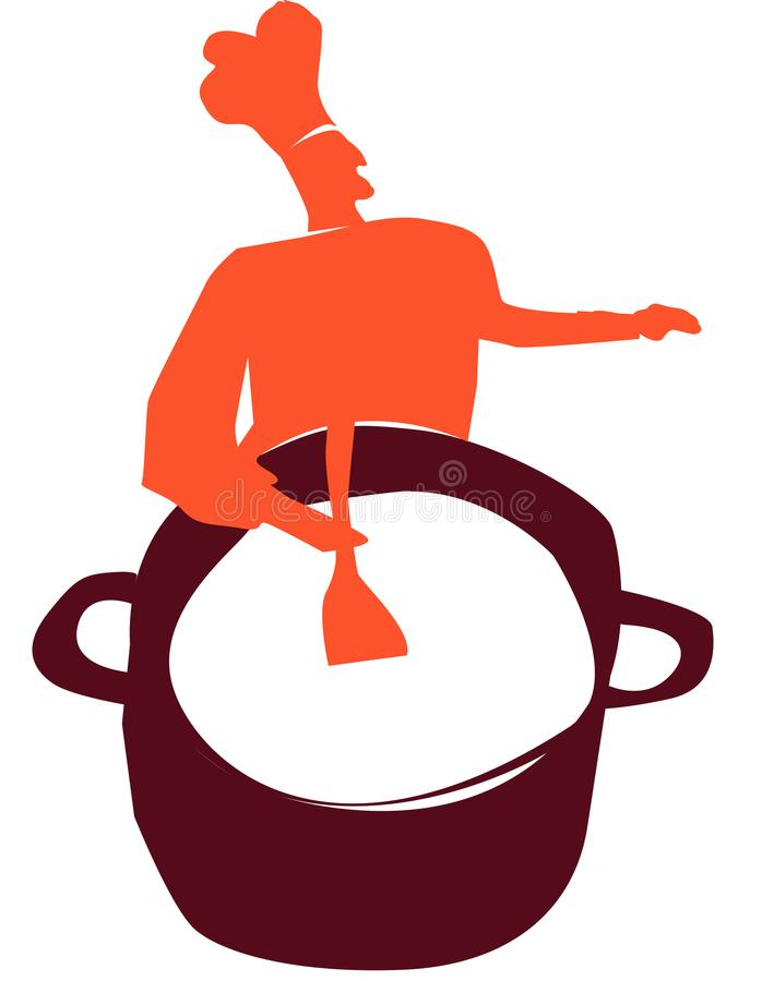 Kulinarny emblemat, logo dla restauraci royalty ilustracja