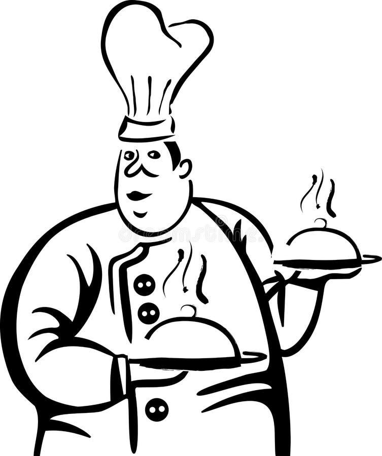 Kulinarny emblemat, logo dla restauraci ilustracja wektor