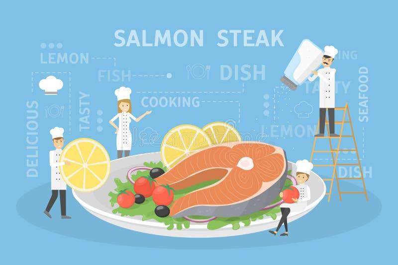 Kulinarny gigantyczny stek royalty ilustracja