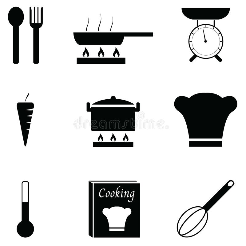 Kulinarny ikona set ilustracji