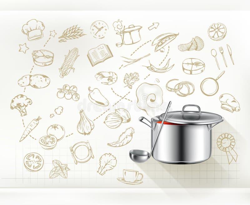 Kulinarny infographics wektor royalty ilustracja