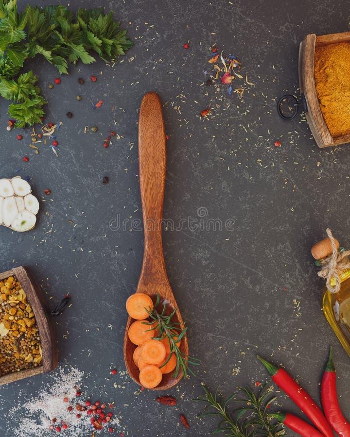 Kulinarny karmowy tło fotografia royalty free