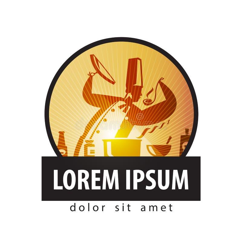 Kulinarny loga projekta szablon Szefa kuchni lub kuchni ikona ilustracji