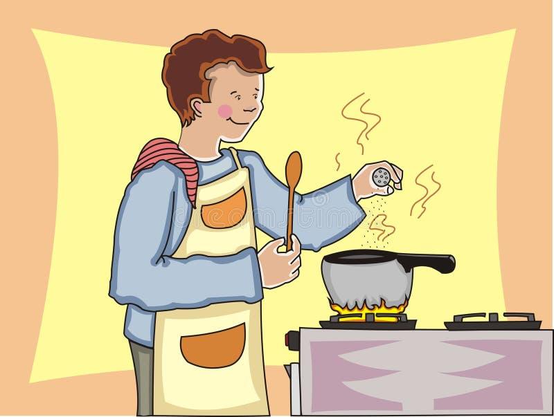 kulinarny mężczyzna ilustracji