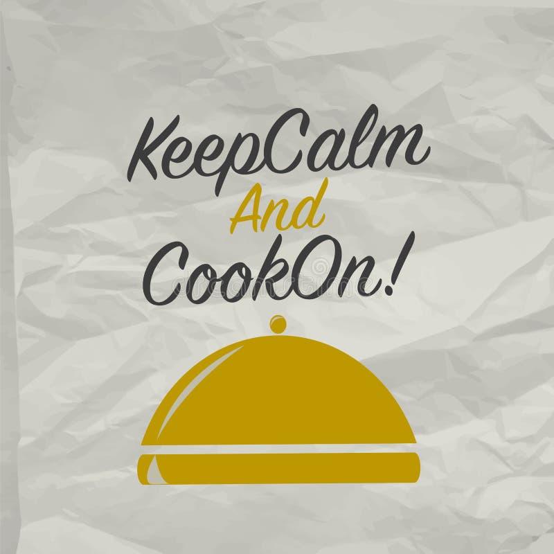 Kulinarny plakat z tacą ilustracji
