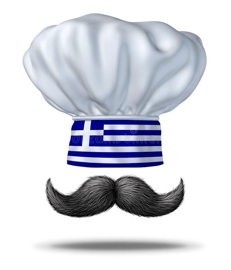 kulinarny pojęcie grek royalty ilustracja