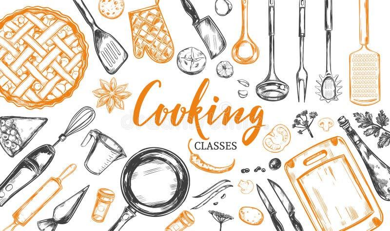 Kulinarny pojęcie 2 rama ilustracja wektor